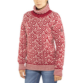 Devold Svalbard High Neck Sweater Herren hindberry/offwhite